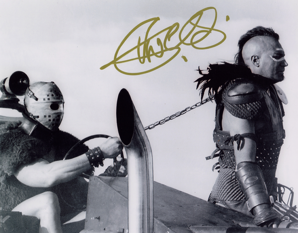 VERNON WELLS AS WEZ SIGNED IN PERSON PHOTO FROM THE ROAD WARRIOR