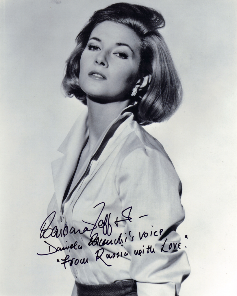 BARBARA JEFFORD IN PERSON SIGNED PHOTO FROM THE JAMES BOND FILM ,FROM RUSSIA WITH LOVE