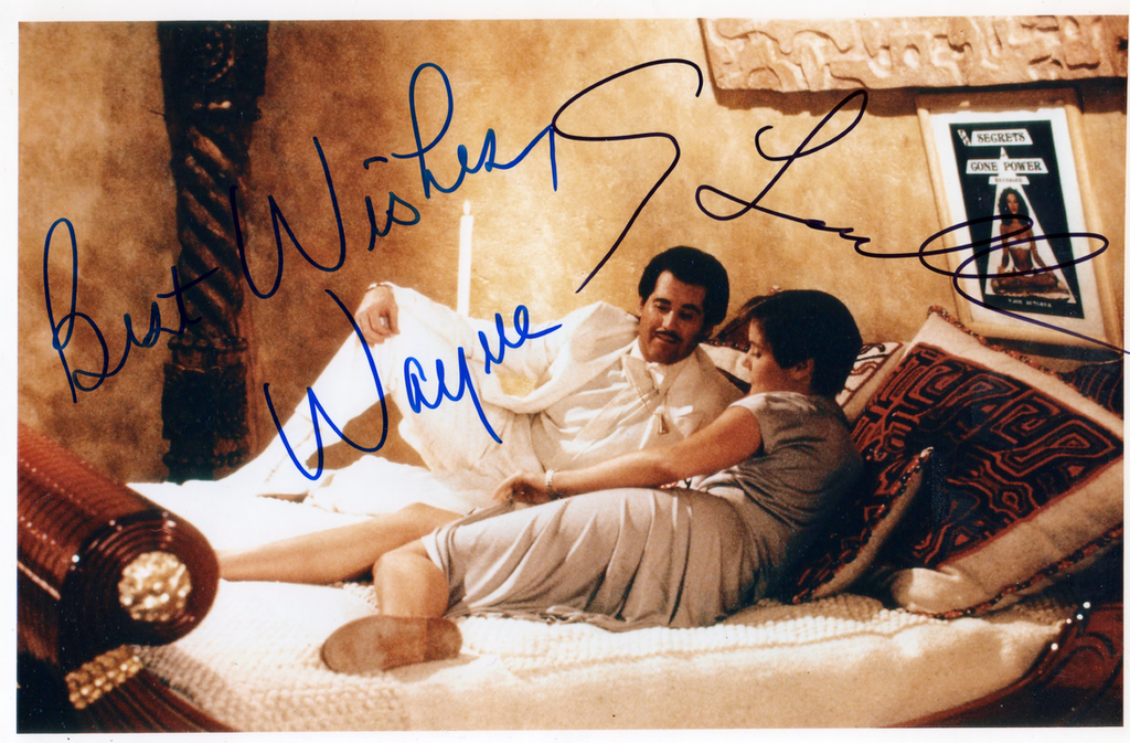 WAYNE NEWTON & PAM BOUVIER IN PERSON SIGNED PHOTO FROM JAMES BONDS LICENCE TO KILL