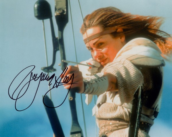 VIRGINIA HEY AS WARRIOR WOMAN SIGNED IN PERSON PHOTO FROM THE ROAD WARRIOR