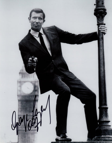 JAMES BOND GEORGE LAZENBY IN PERSON SIGNED PHOTO