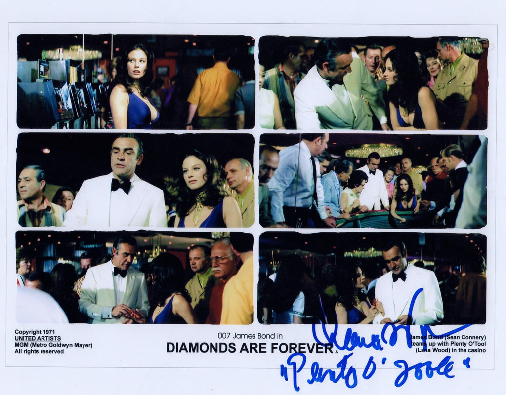 BOND GIRL LANA WOOD DIAMONDS ARE FOREVER IN PERSON SIGNED PHOTO