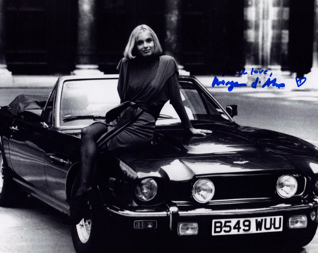 BOND GIRL MARYAM d'ABO THE LIVING DAYLIGHTS IN PERSON SIGNED PHOTO
