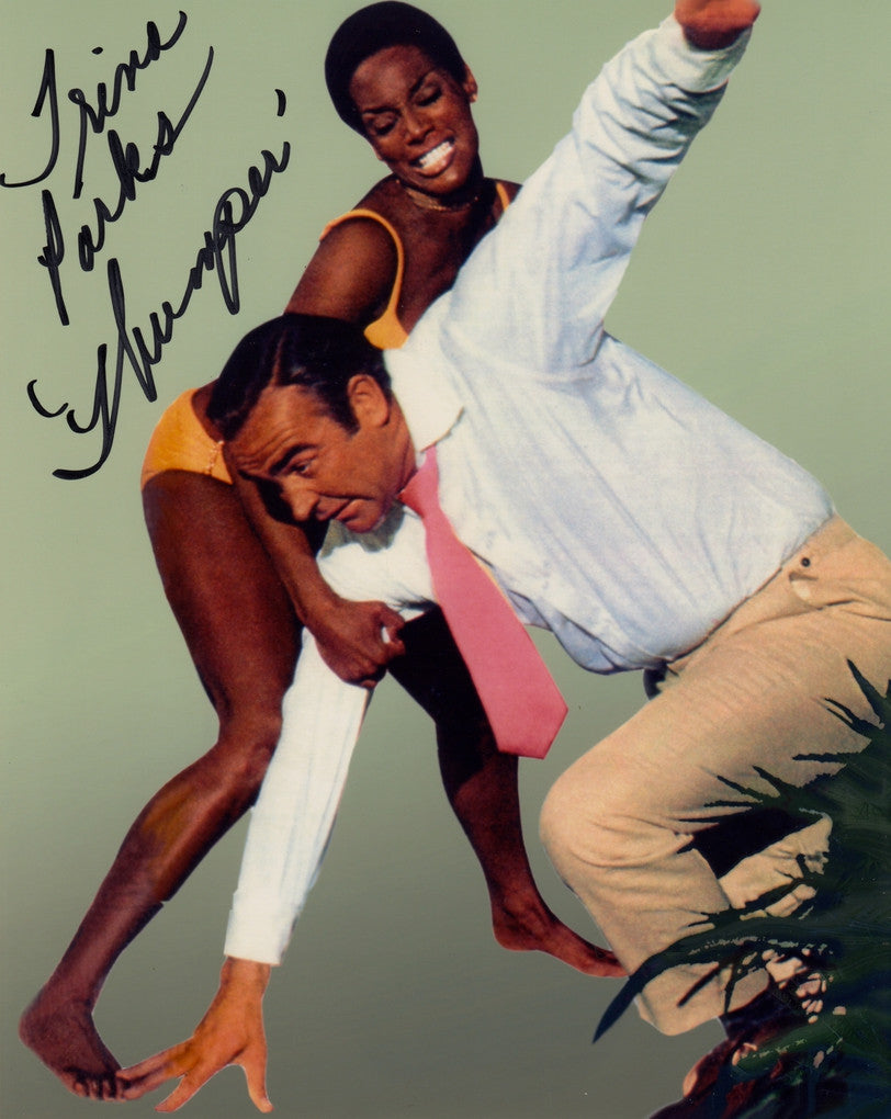 BOND GIRL TRINA PARKS IN PERSON SIGNED PHOTO FROM DIAMONDS ARE FOREVER