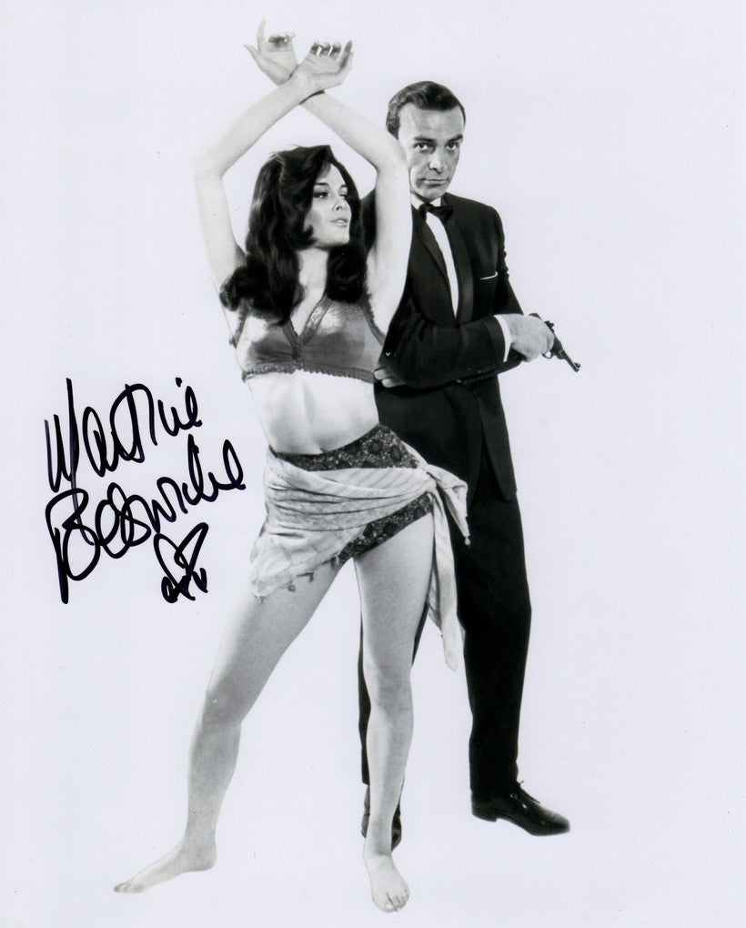 JAMES BOND GIRL MARTINE BESWICK THUNDERBALL FROM RUSSIA WITH LOVE IN PERSON SIGNED PHOTO