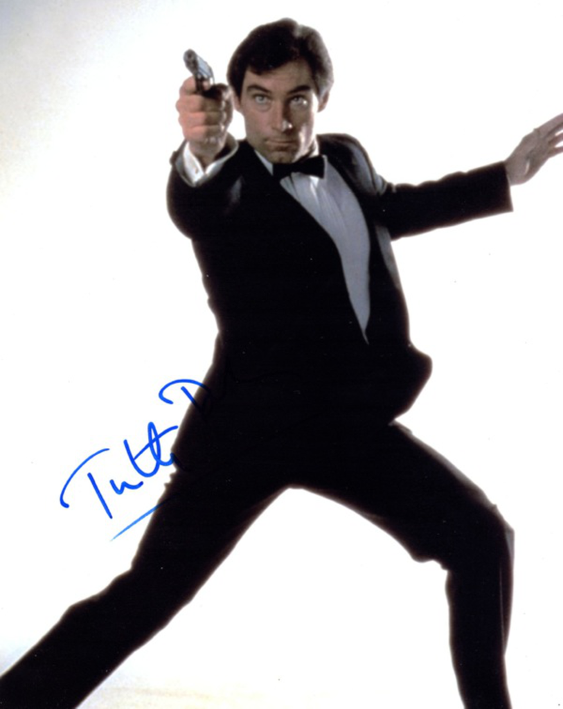 JAMES BOND TIMOTHY DALTON IN PERSON SIGNED PHOTO