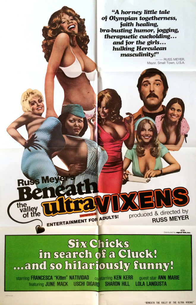 RUSS MEYERS BENEATH THE VALLEY OF THE ULTRA-VIXENS ORIGINAL MOVIE POSTER