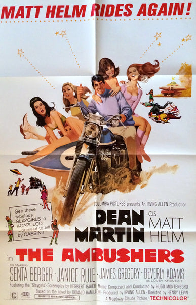 DEAN MARTIN AS MATT HELM IN THE AMBUSHERS ORIGINAL MOVIE POSTER