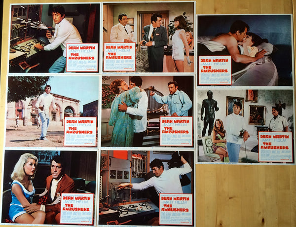 DEAN MARTIN THE AMBUSHERS ORIGINAL LOBBY CARD SET OF 8