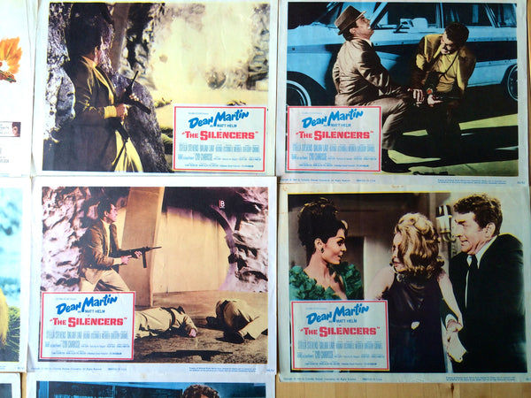 DEAN MARTIN THE SILENCERS ORIGINAL LOBBY CARD SET OF 8 / DINO AS MATT HELM