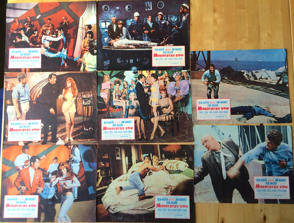DEAN MARTIN MURDERERS ROW ORIGINAL LOBBY CARD SET OF 8