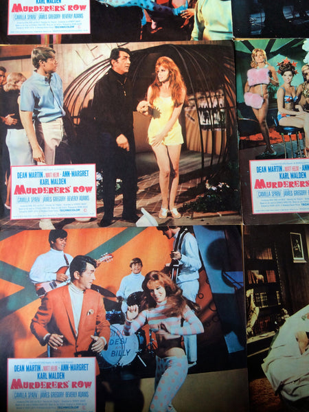 DEAN MARTIN MURDERERS ROW LOBBY CARD SET OF 8
