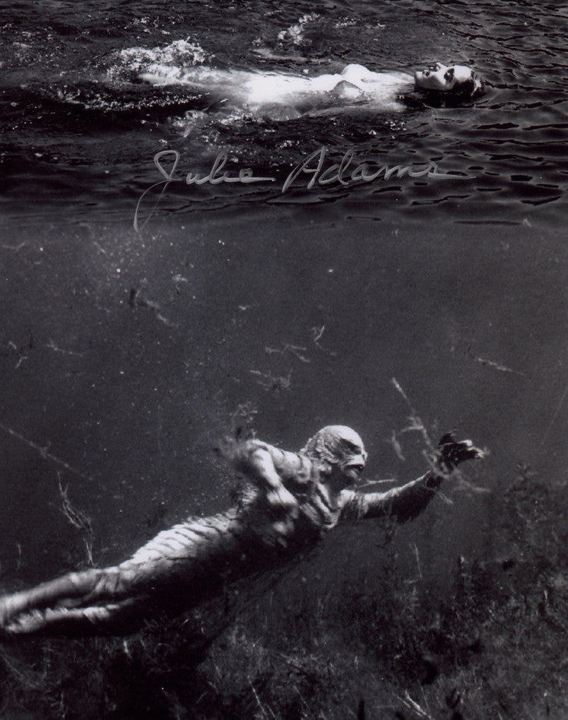 JULIE ADAMS CREATURE FROM THE BLACK LAGOON AUTOGRAPHED PHOTO