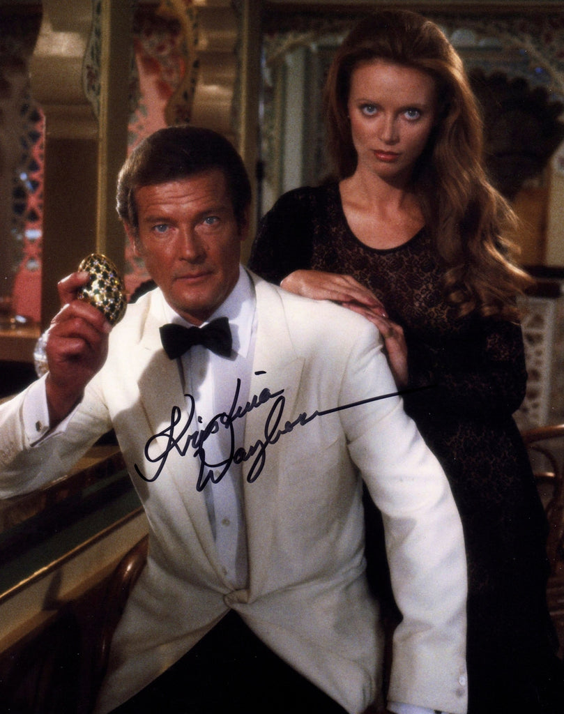 JAMES BOND GIRL IN PERSON SIGNED PHOTO KRISTINA WAYBORN