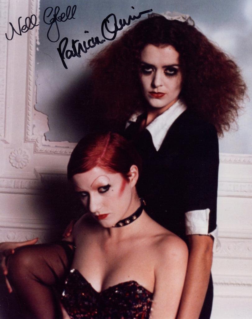 THE ROCKY HORROR PICTURE SHOW IN PERSON SIGNED PHOTO PATRICIA QUINN & NELL CAMPBELL