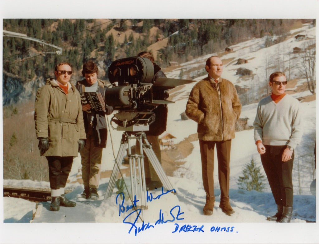 PETER HUNT DIRECTOR JAMES BONDS 'ON HER MAJESTY'S SECRET SERVICE IN PERSON SIGNED PHOTO