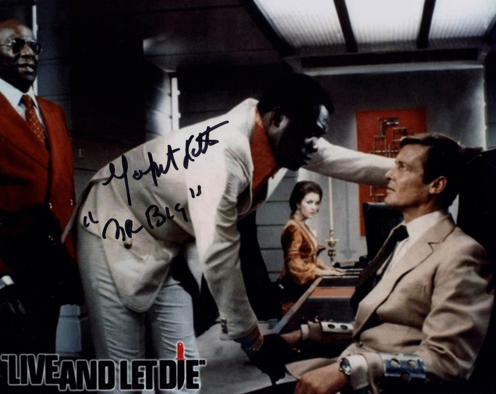 JAMES BONDS LIVE & LET DIE YAPHET KOTTO IN PERSON SIGNED PHOTO