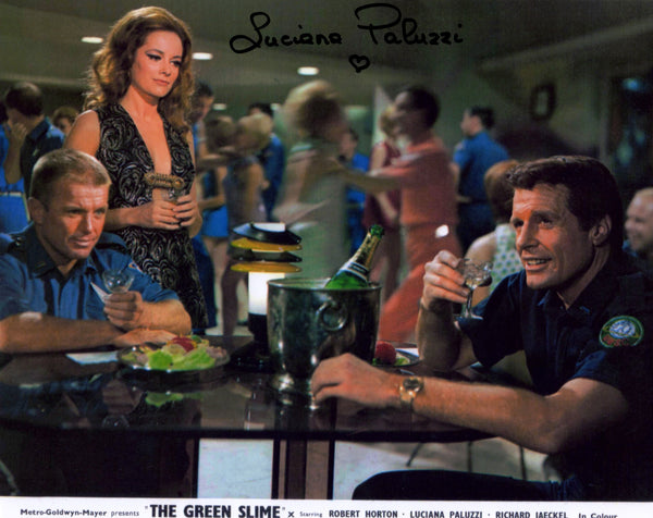 Luciana Paluzzi (JAMES BOND GIRL) FromThe 1968 Film The Green Slime,Signed In Person Shot
