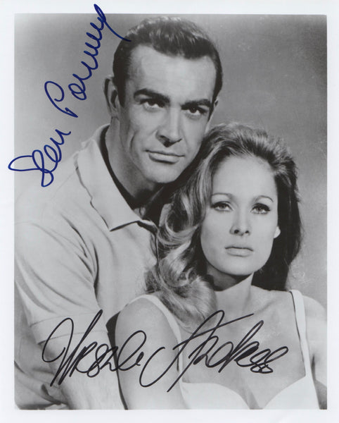 URSULA ANDRESS & SEAN CONNERY IN PERSON SIGNED PHOTO FROM JAMES BONDS DR NO