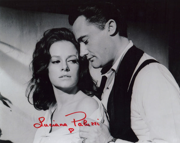 JAMES BOND GIRL LUCIANA PALUZZI FROM TV SERIES THE MAN FROM UNCLE IN PERSON SIGNED PHOTO