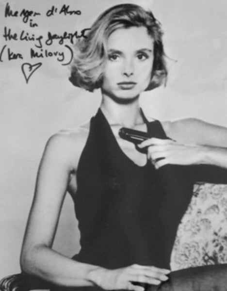 MARYAM D' ABO BOND GIRL THE LIVING DAYLIGHTS IN PERSON SIGNED 11 X 14 PHOTO