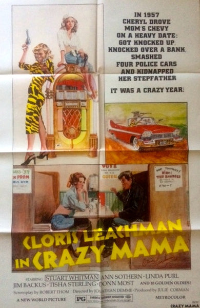 CLORIS LEACHMAN IN PERSON SIGNED ORIGINAL MOVIE POSTER CRAZY MAMA