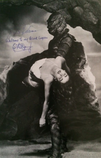 JULIE ADAMS & BEN CHAPMAN IN PERSON SIGNED PHOTO FROM CREATURE FROM THE BLACK LAGOON