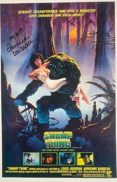 ADRIENNE BARBEAU Signed 11 X 17 In Person Photo From SWAMP THING