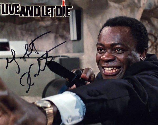 JAMES BOND LIVE AND LET DIE YAPHET KOTTO AUTOGRAPHED PHOTO
