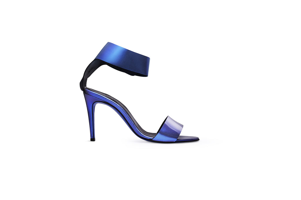 MAAN Blue Metallic Sandal