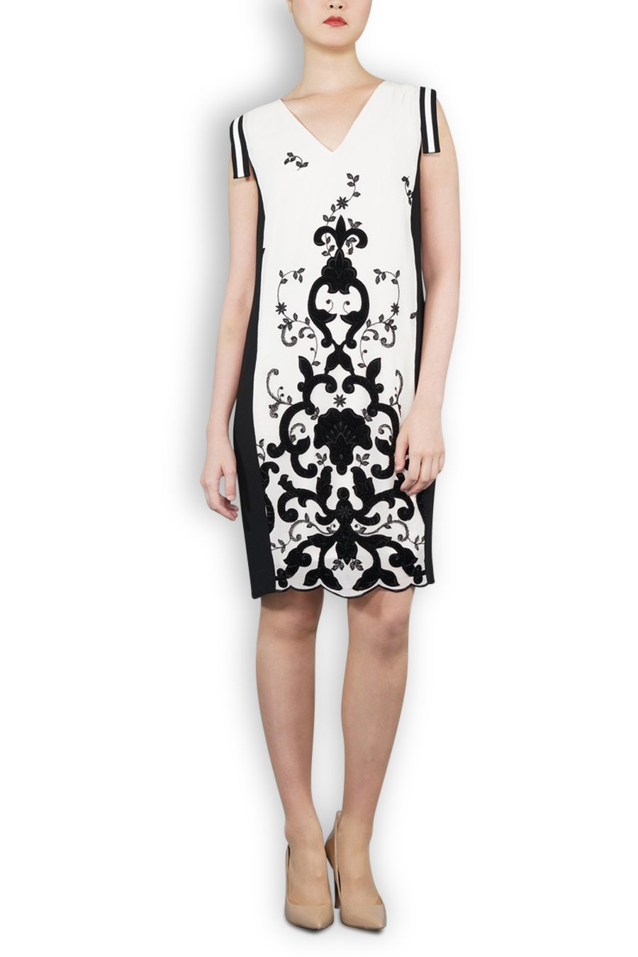 Limited edition italian flock black and white dress isabella wren limited edition italian flock black and white dress ombrellifo Image collections