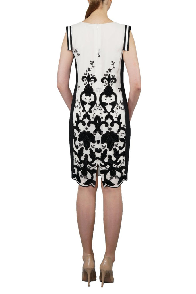 *Limited Edition* Italian Flock Black and White Dress