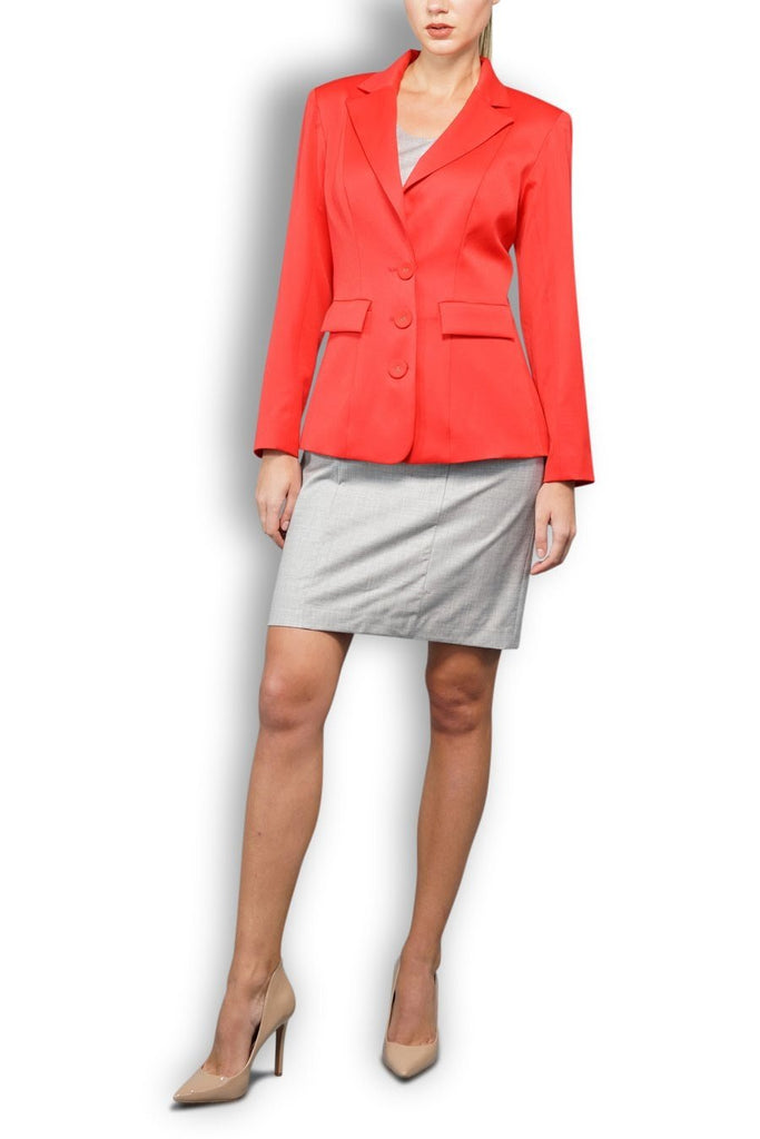 Telephone Red Wool Blazer