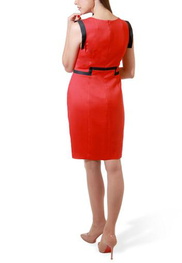 The Bella- Sangria Red Wool with Black Trim