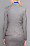 Isabella Wren Heather Grey Wool Blazer (reverse view)