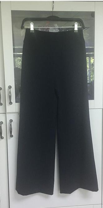 Angie Lau Perfect Navy Wool Pants