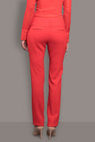 Telephone Red Wool Crepe Trouser