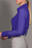 Electric Purple Stretch Silk Blouse