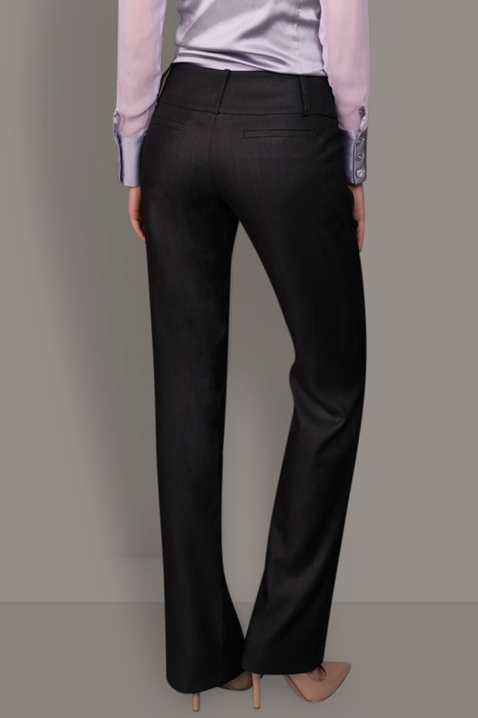 Dark Grey Soft Wool Trousers