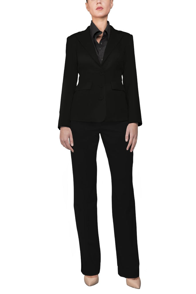 Black Italian Soft Wool Blazer