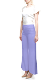Angie Lau Perfect Purple Wool Trouser