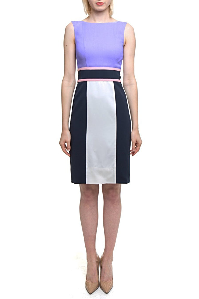 Angie Lau Vertical Panel and Wide Waist Dress