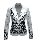 J01 Black and White Italian Flock Jacket