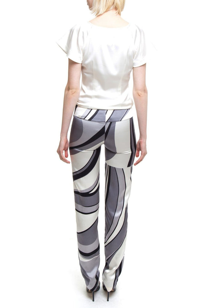 Groovy Pants in Black White And Grey