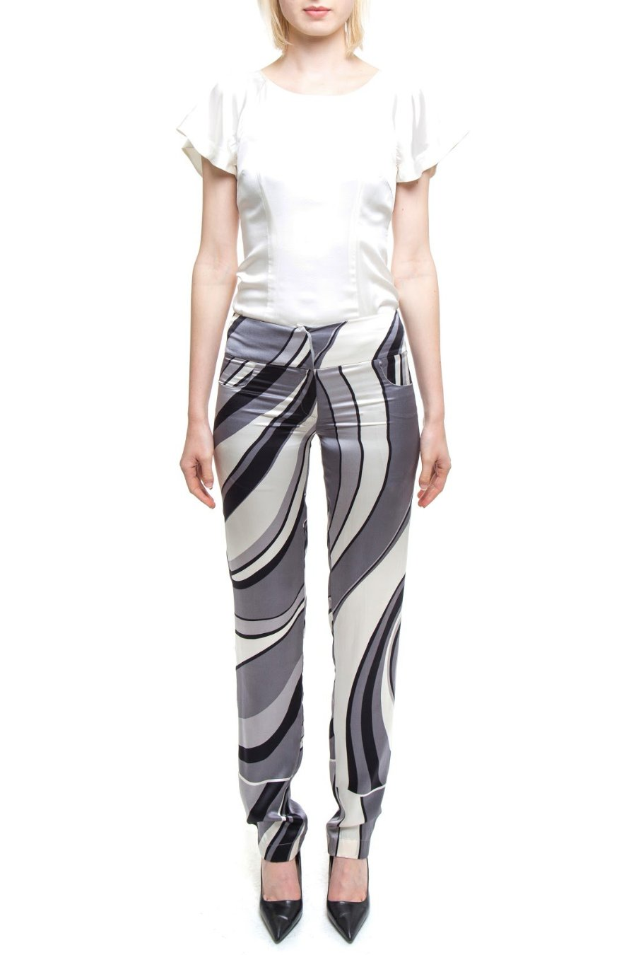 778ad59e11fc3f Groovy Pants in Black White And Grey – Isabella Wren