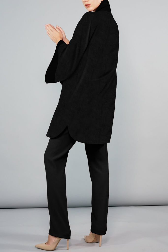 Swing Back Coat - Black Cashmere