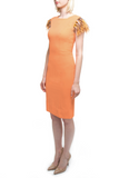 Orange Feathered Dress