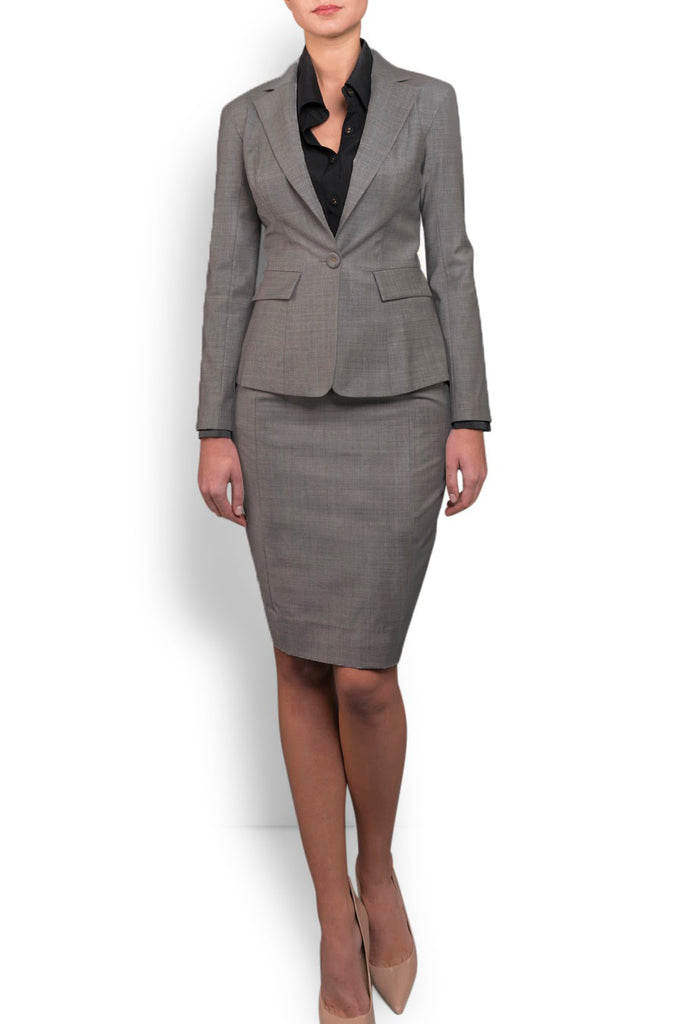 Heather Grey Wool Blazer