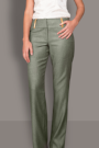 Khaki Linen Look Trousers