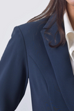Isabella Wren's Belize Navy Crepe Blazer with White Accents